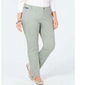 Charter Club Size 18W Light Green Slim Leg Jeans